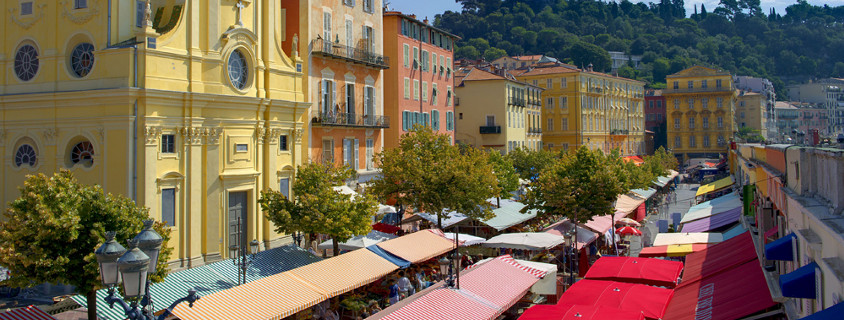 Cours Saleya Nice, centre ville nice