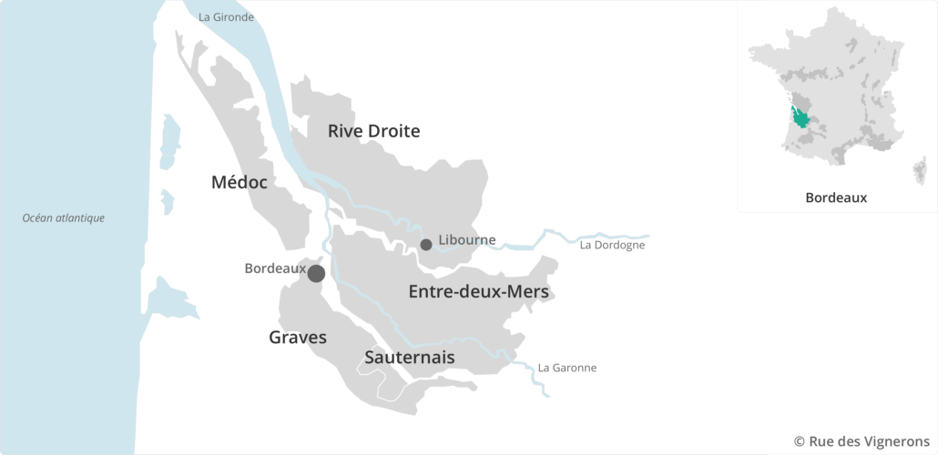 Bordeaux vineyard map, bordeaux vineyard, bordeaux appellations map