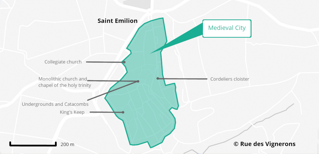 saint emilion map, tourism map st emilion france
