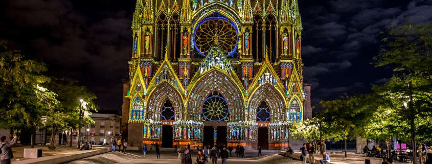reims cathedral light show, reims attraction, reims gothic cathedral