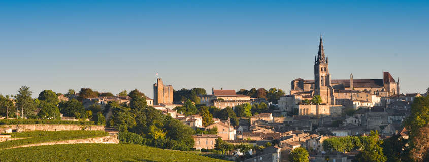 Saint Emilion France images, view of the city