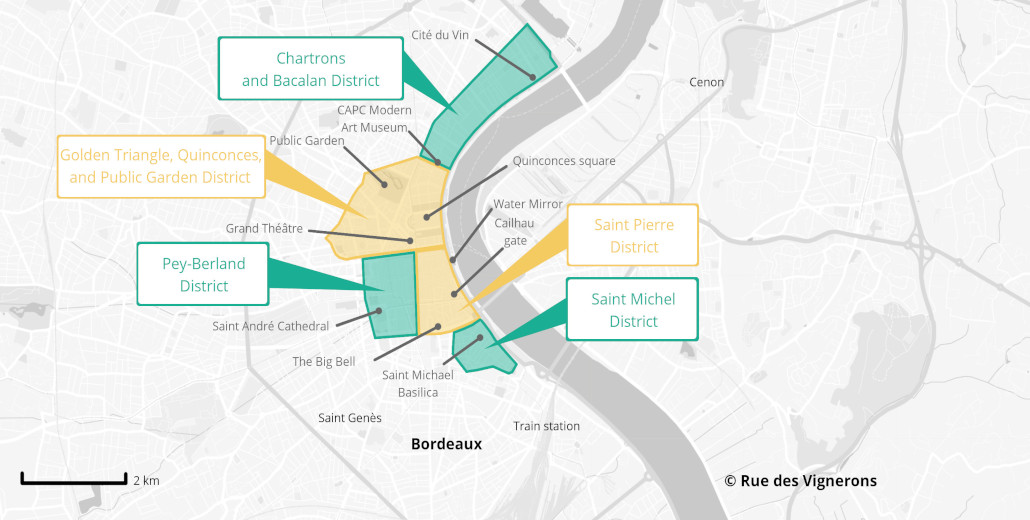 Bordeaux tourist map, bordeaux city map