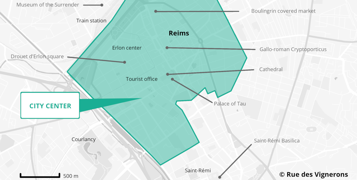Reims city map france, tourist map of reims, reims points of interest, places to visit reims, reims area france