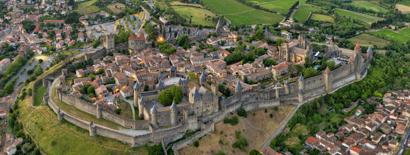 Aerial view of Carcassonne, Carcassonne city